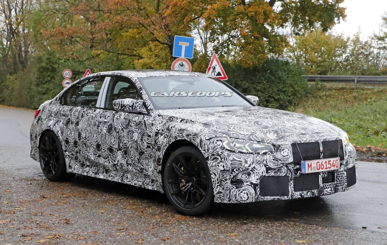 BMW M3(G80)spyshot front three quarter