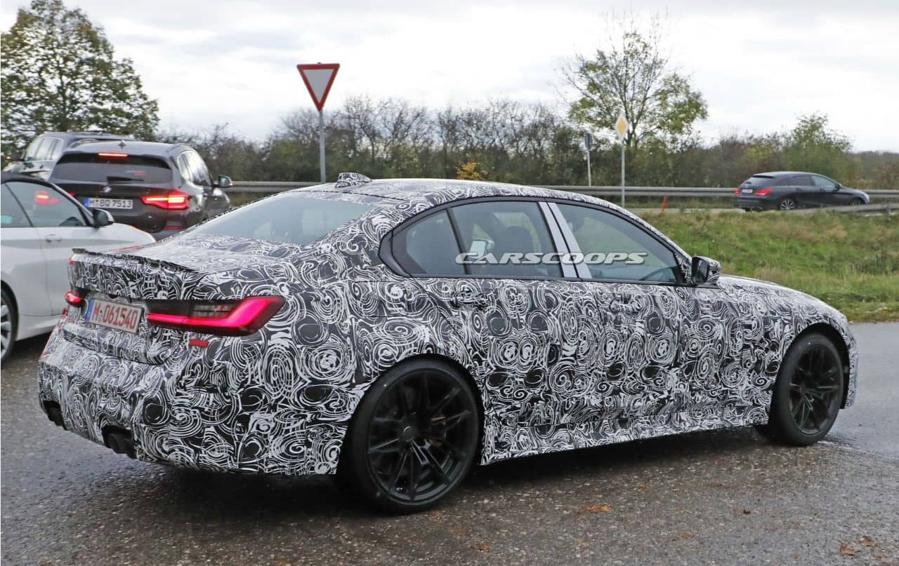 BMW M3(G80)spyshot  rear three quarter
