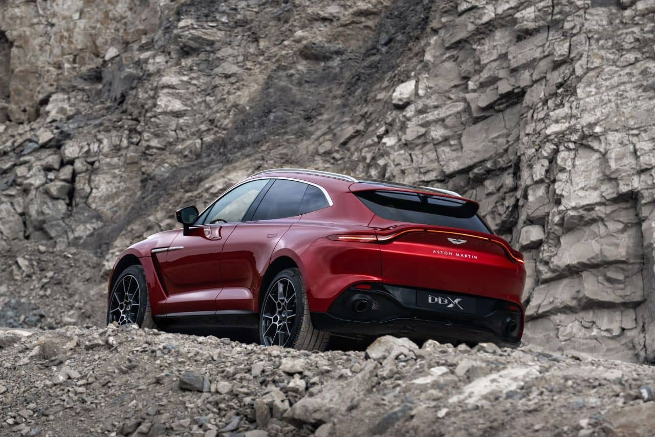 Aston Martin DBX rear three quarter