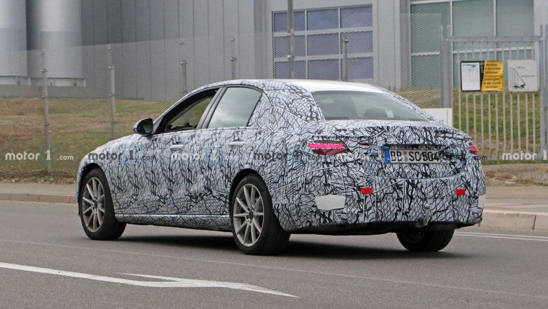 Mercedes-Benz C Class 2021 spyshot rear three quarter