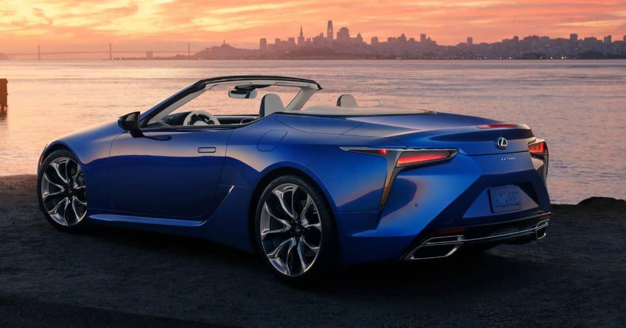 Lexus LC500 Convertible rear three quarter