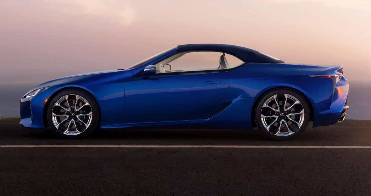 Lexus LC500 Convertible side