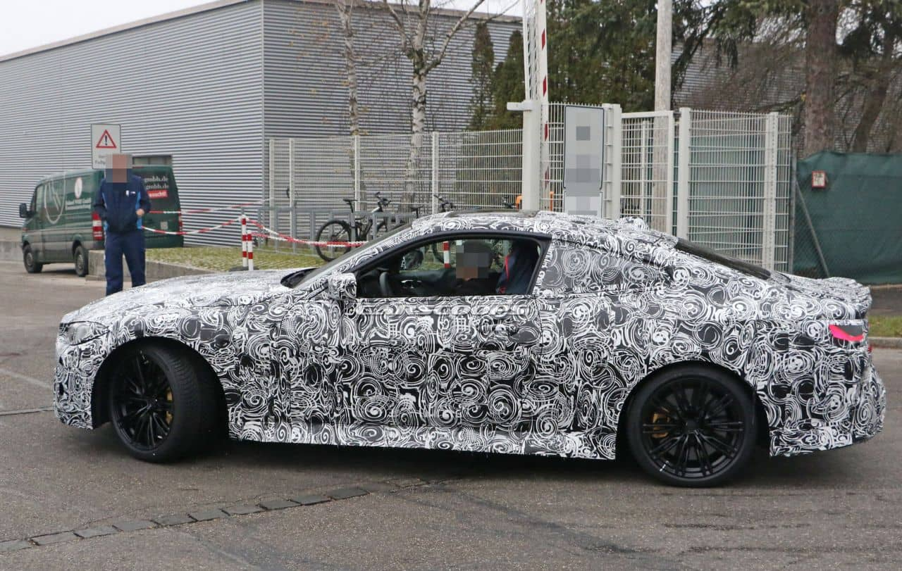 BMW M4 coupe spyshot side
