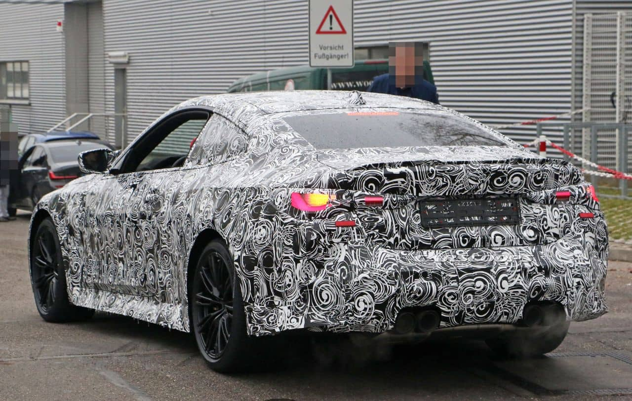 BMW M4 coupe spyshot rear