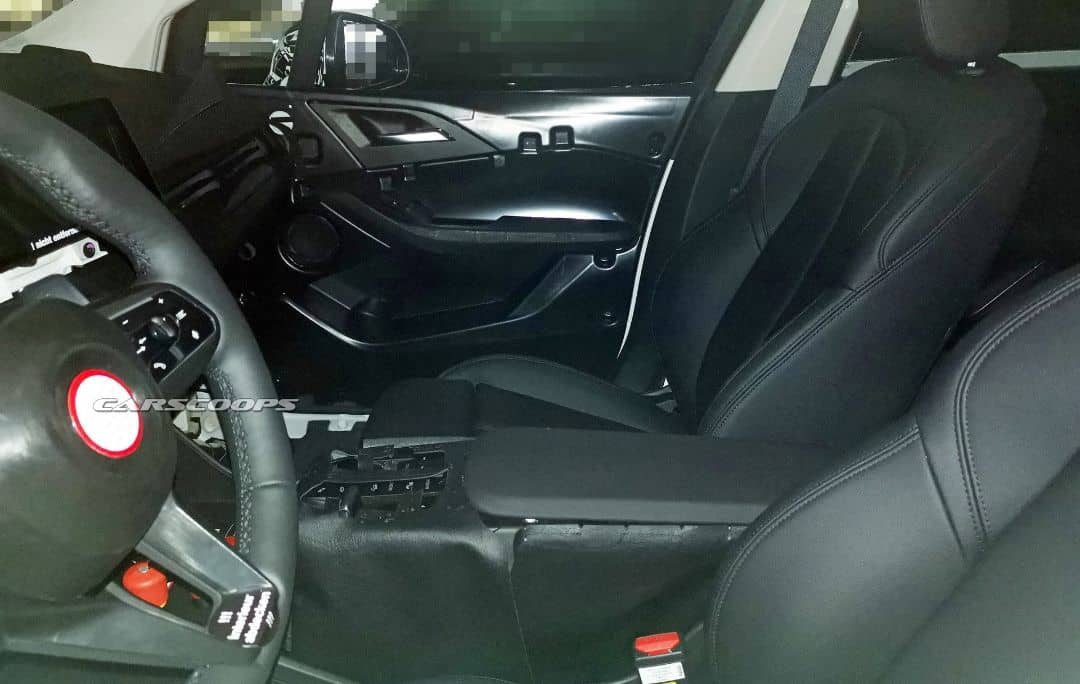 BMW 2 Series Active Tourer Snow Test Spyshot interior