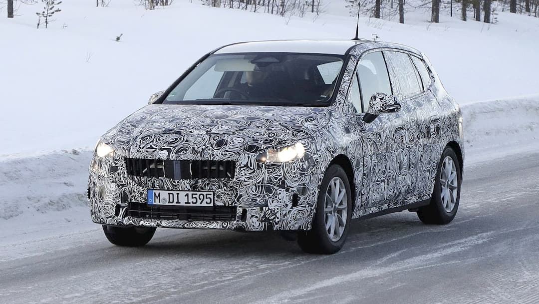 BMW 2 Series Active Tourer Snow Test Spyshot front