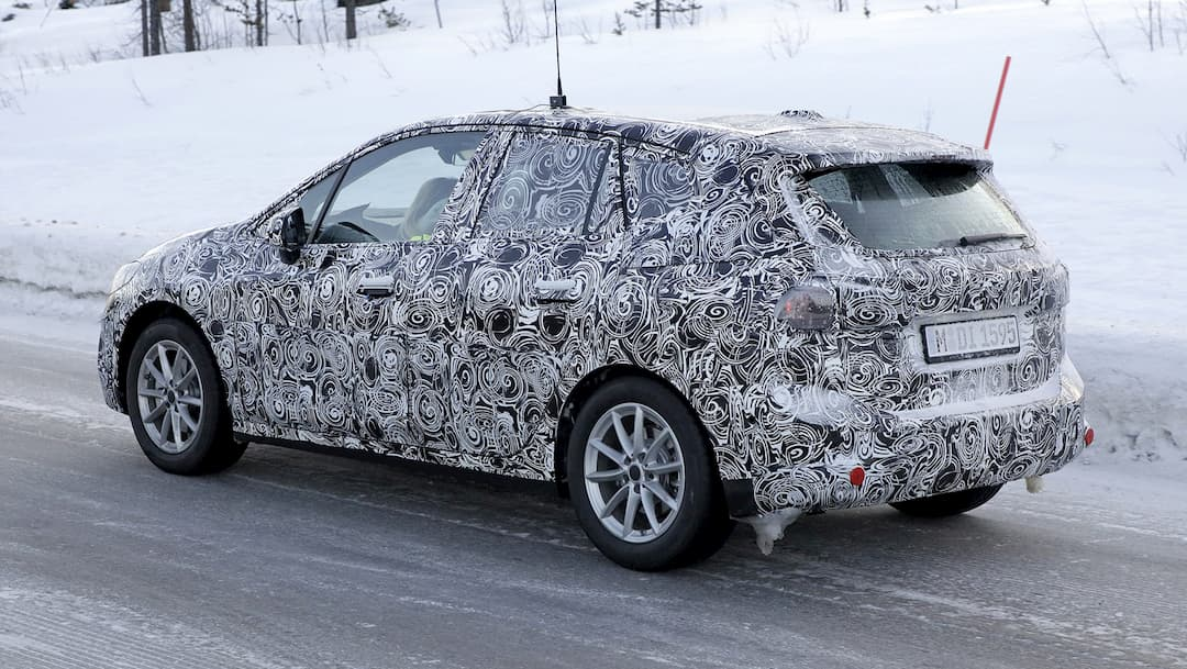 MW 2 Series Active Tourer Snow Test Spyshot rear