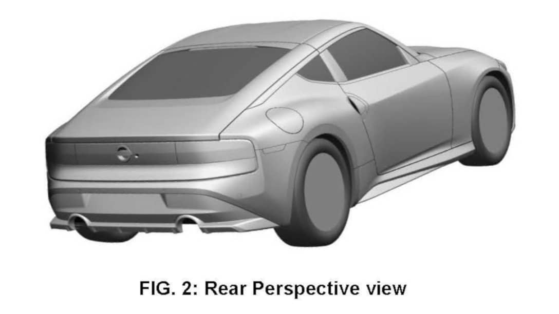 Nissan 400Z Patent Image Rear Perspective