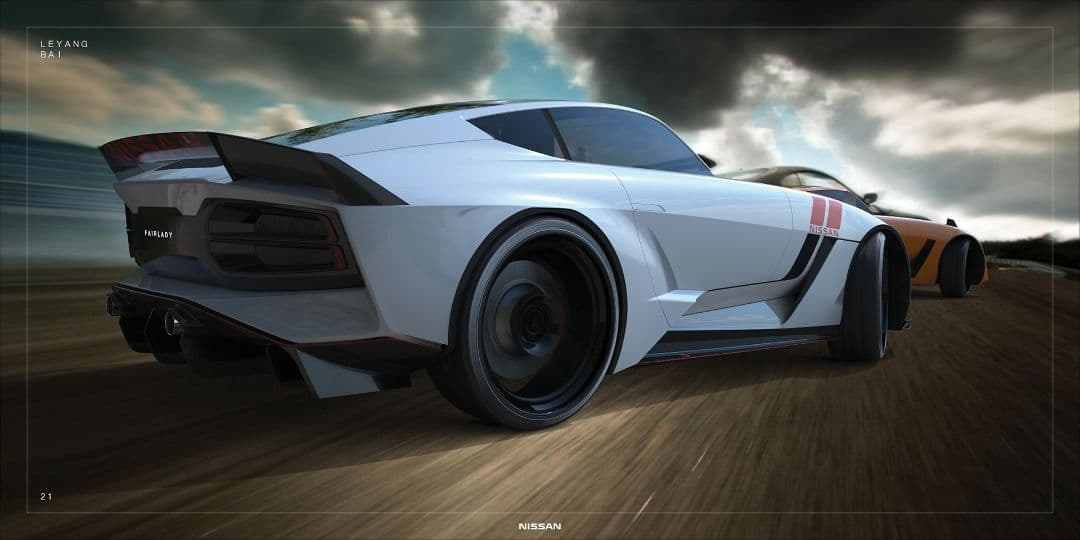 Nissan 480Z rendered by Le Yang Bai