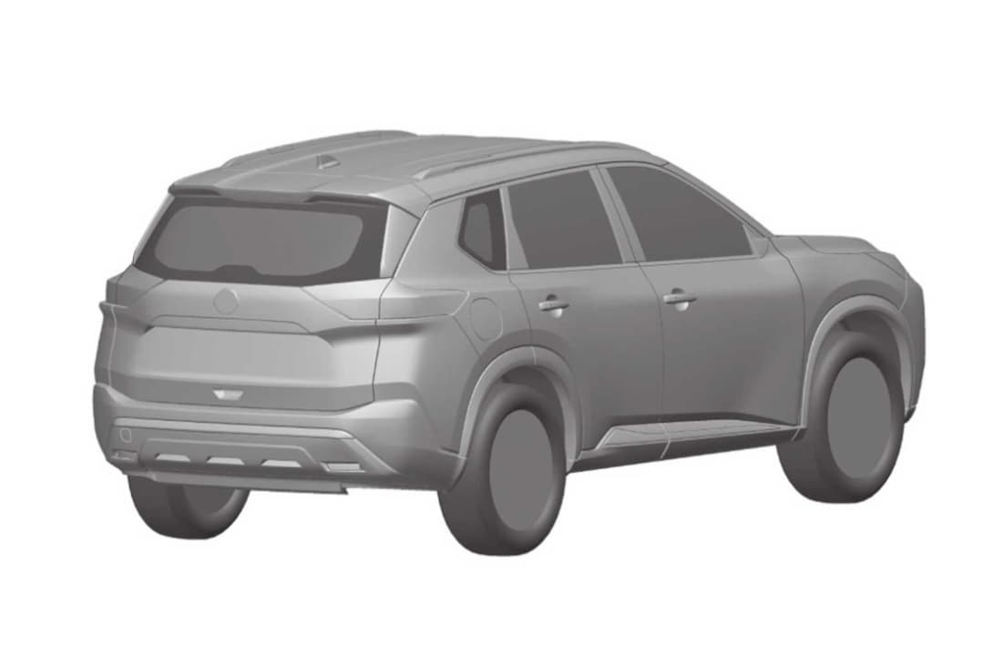 Nissan Rogue 4th Gen Patent Image rear three quarter