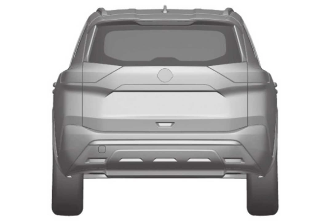 Nissan Rogue 4th Gen Patent Image rear