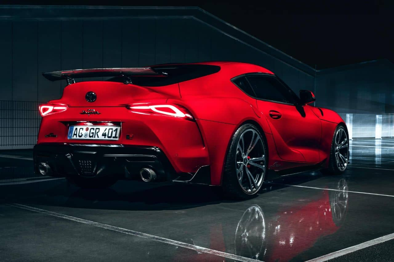 AC Schnitzer GR Supra rear at night