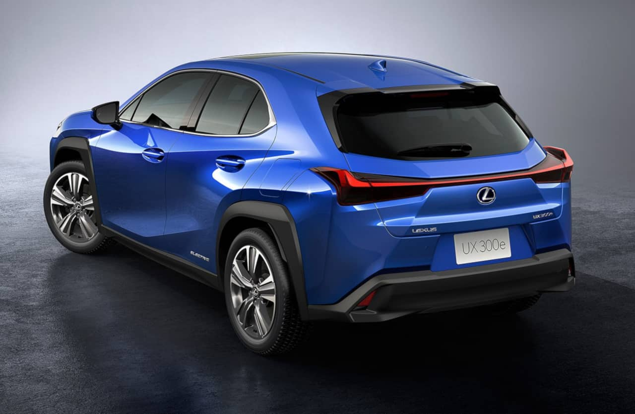 Lexus UX300e rear three quarter