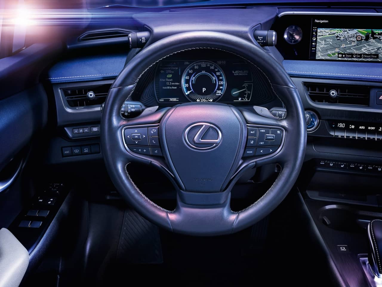 Lexus UX300e steering wheel