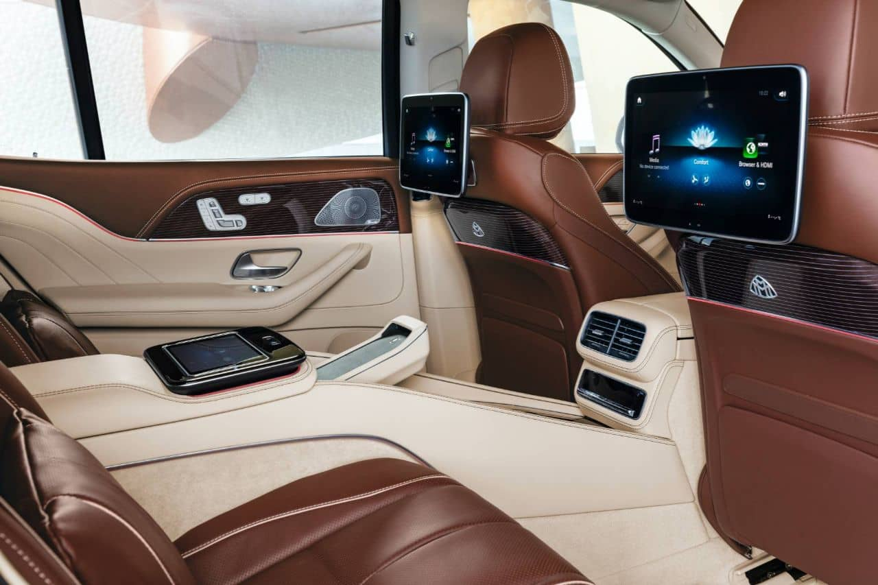 Mercedes Maybach GLS 600 rear entertainment