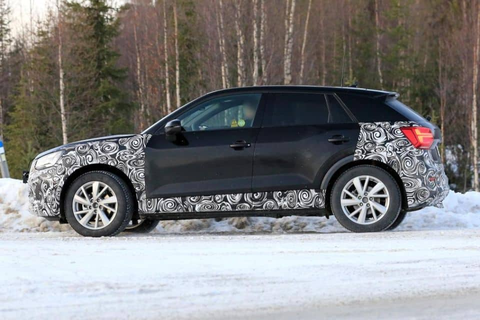 audi q2 my2020 spyshot side