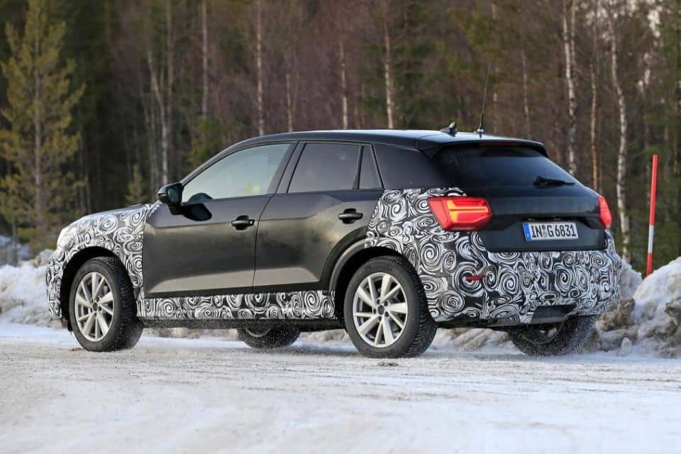 audi q2 my2020 spyshot rear three quarter