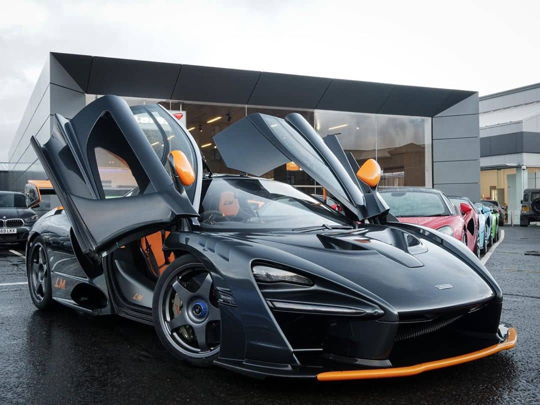 McLaren Senna LM front three quarter door open
