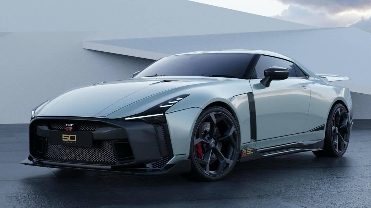 Nissan GT-R50 by Italdesign white front three quarter