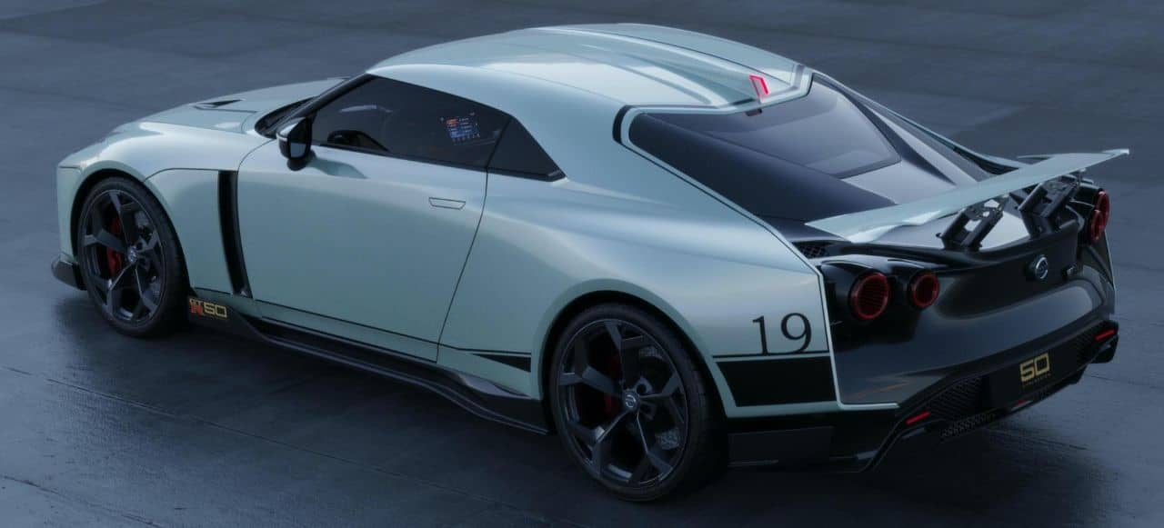 Nissan GT-R50 by Italdesign white rear three quarter