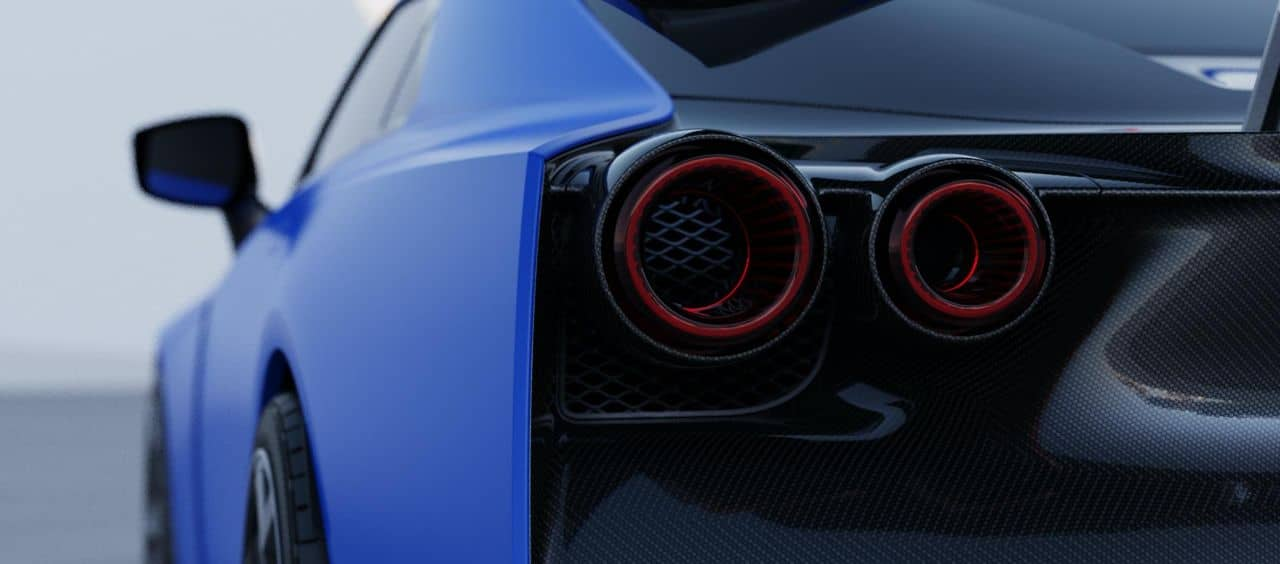 Nissan GT-R50 by Italdesign blue taillight