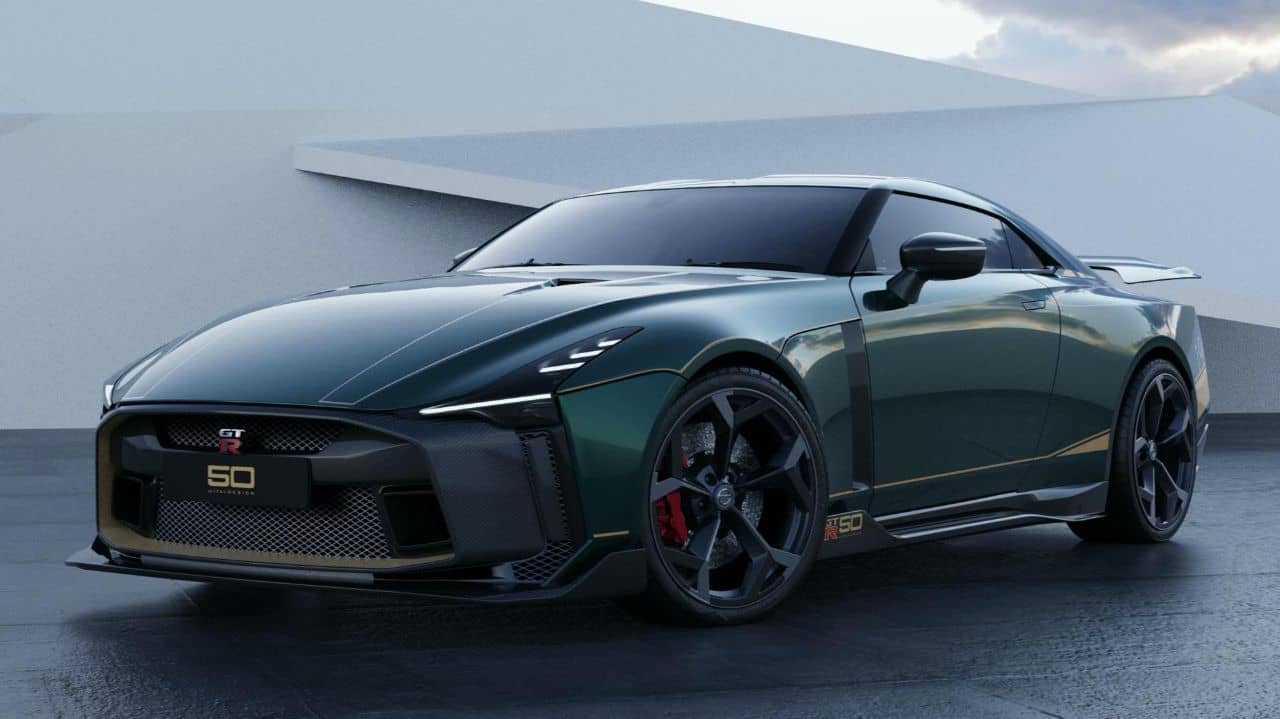 Nissan GT-R50 by Italdesign green front three quarter
