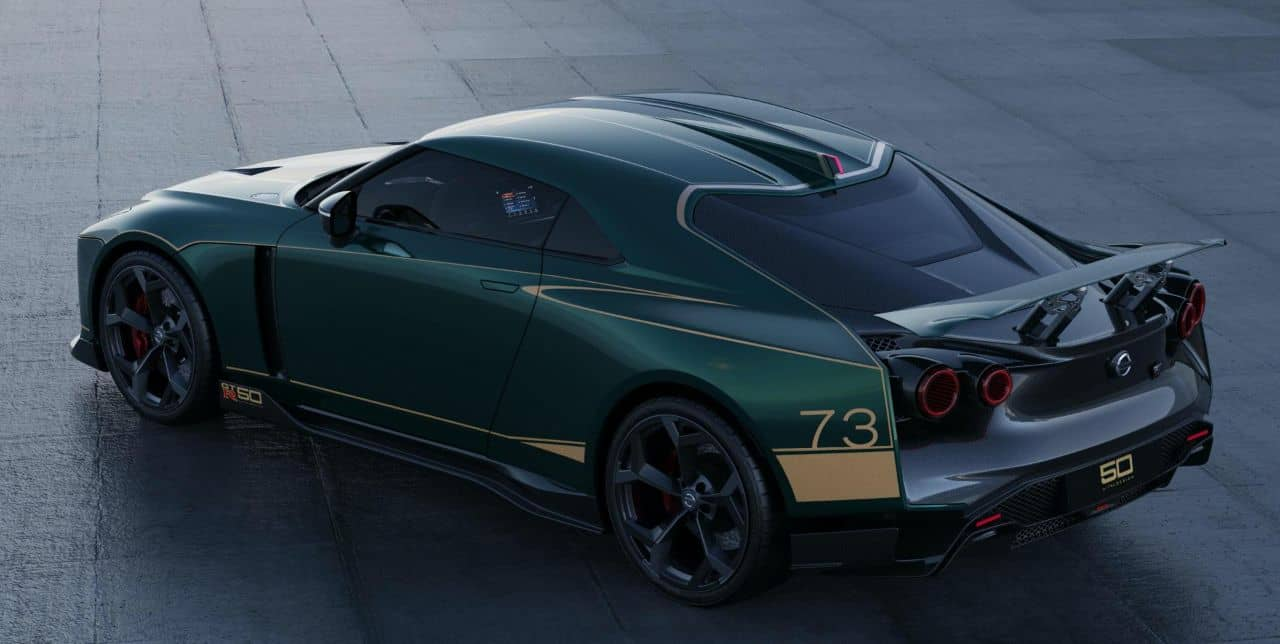 Nissan GT-R50 by Italdesign green rear three quarter