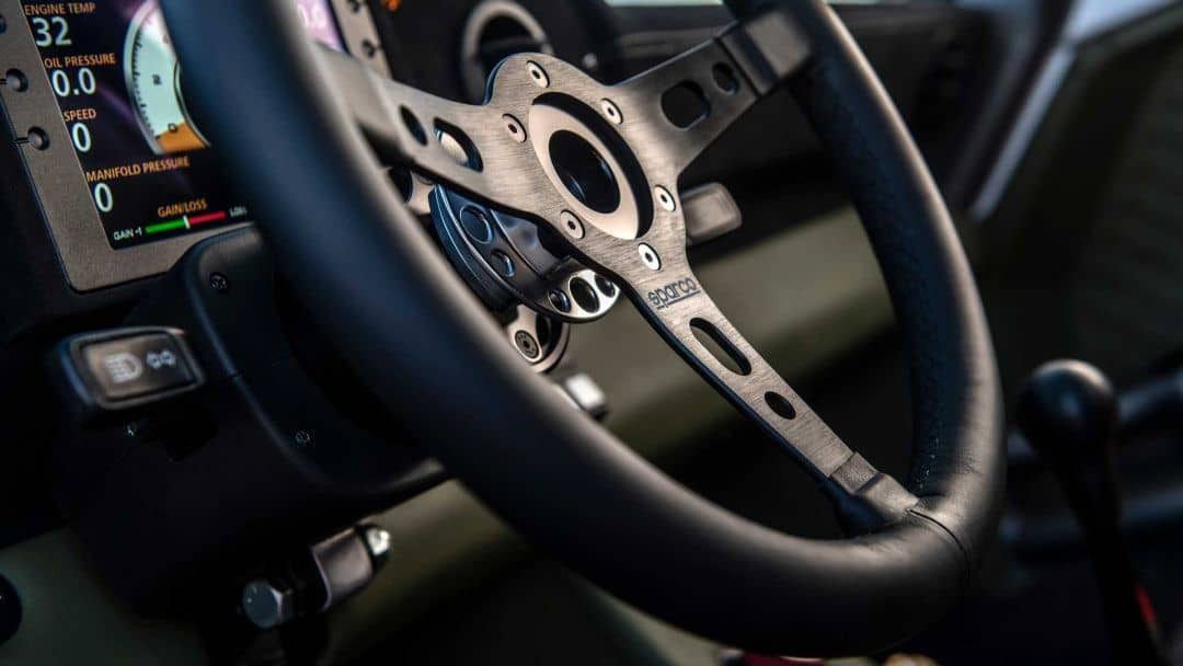 Porsche 911 Baja steering wheel