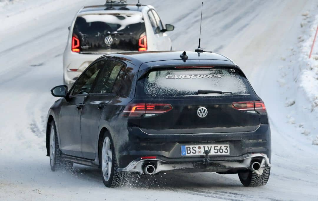VW Golf Mk8 GTI spyshot rear