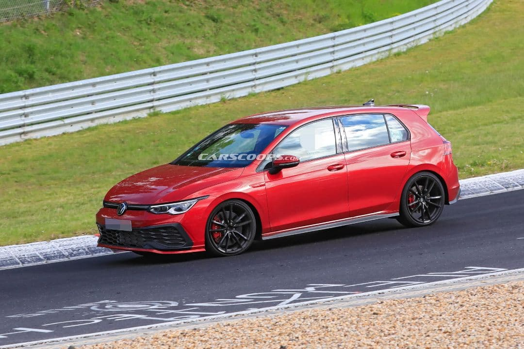 VW Golf Mk8 GTI TCR spyshot front side