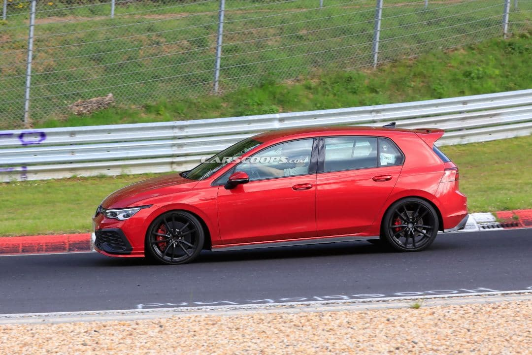 VW Golf Mk8 GTI TCR spyshot side