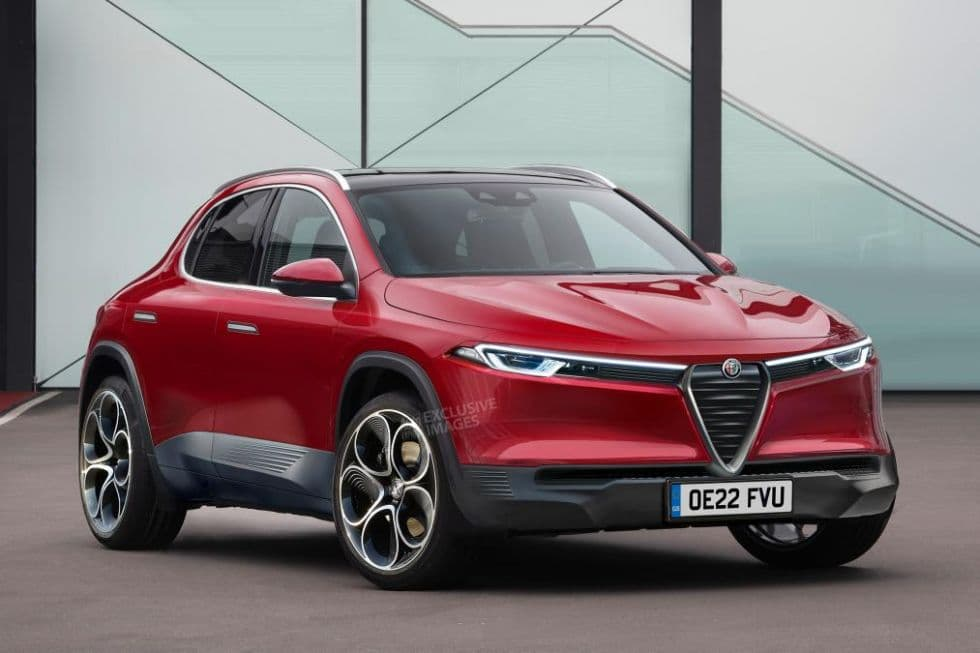 Alfa Romeo Baby SUV rendered by AutoExpress front