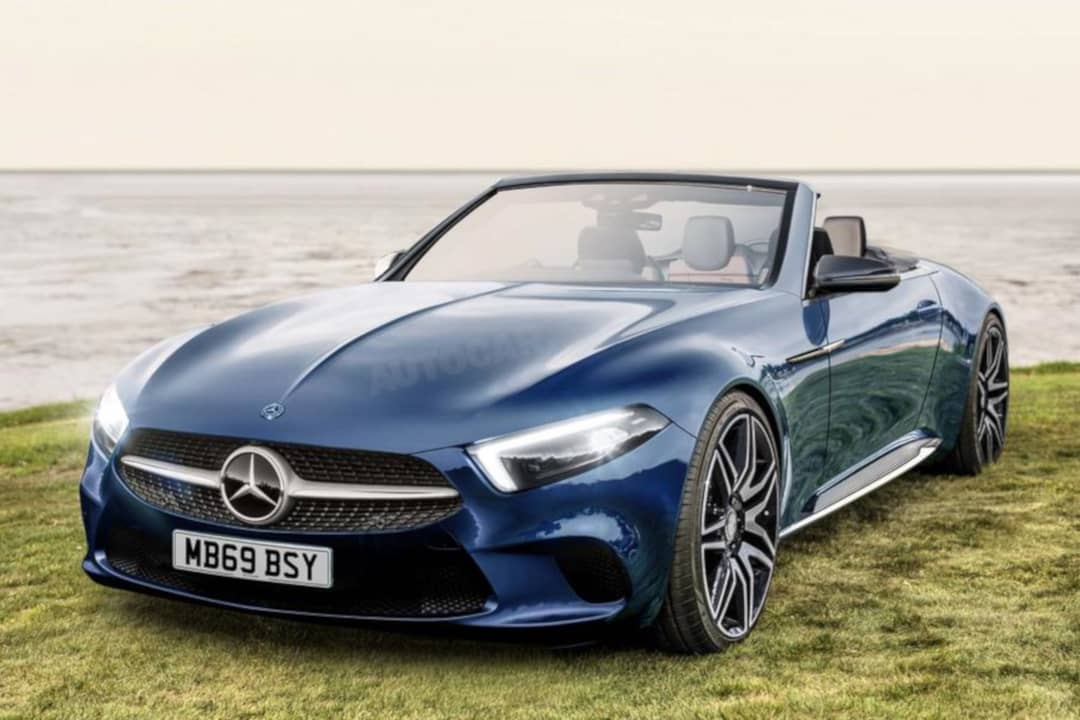 Mercedes Benz SL rendered by AUTOCAR