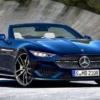 Mercedes-Benz SL rendered by AutoExpress front