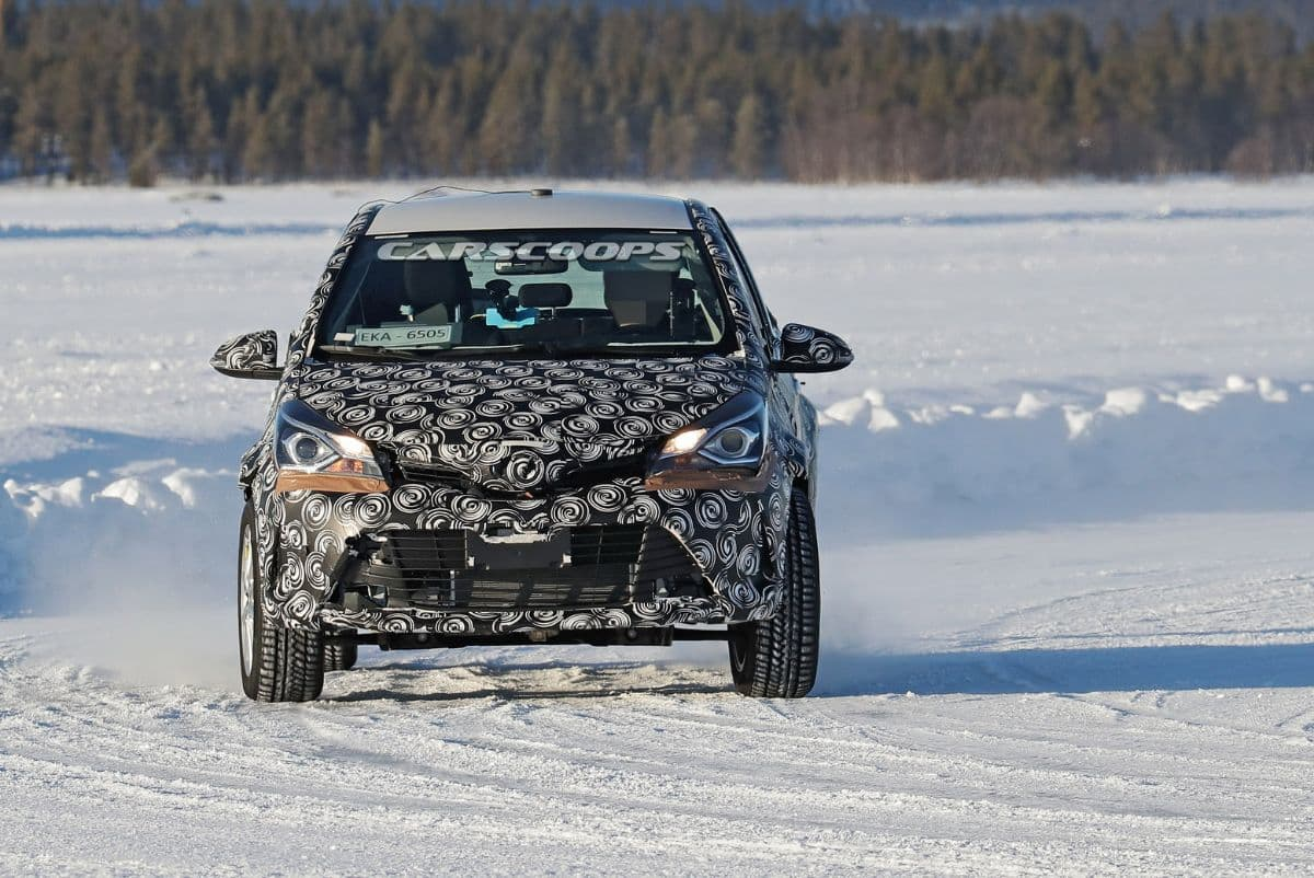 Toyota Yaris Cross Snow Test Spyshot front
