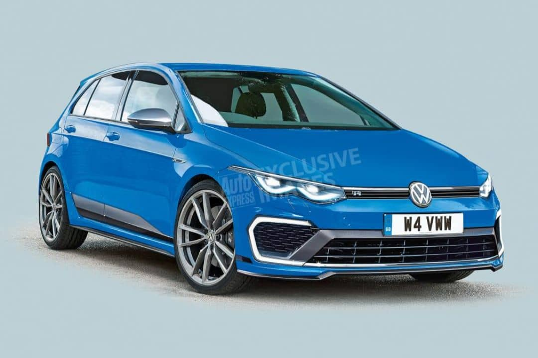 VW Mk8 Golf_R rendered by AutoExpress front