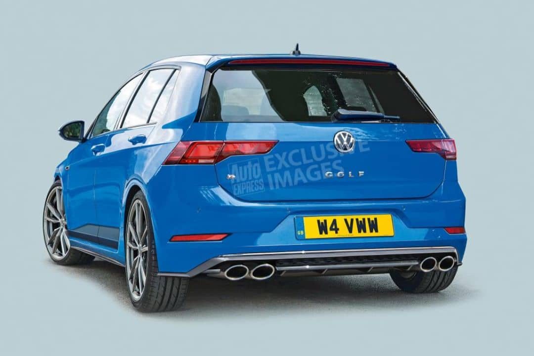 VW Mk8 Golf_R rendered by AutoExpress rear