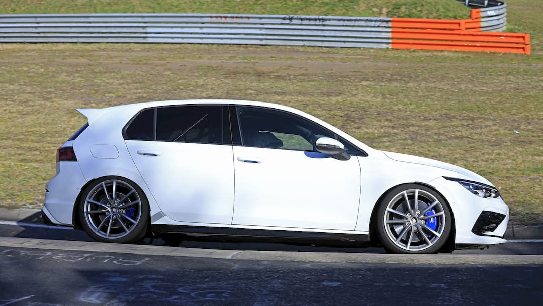 VW Golf R Mk8 spyshot at Nur side