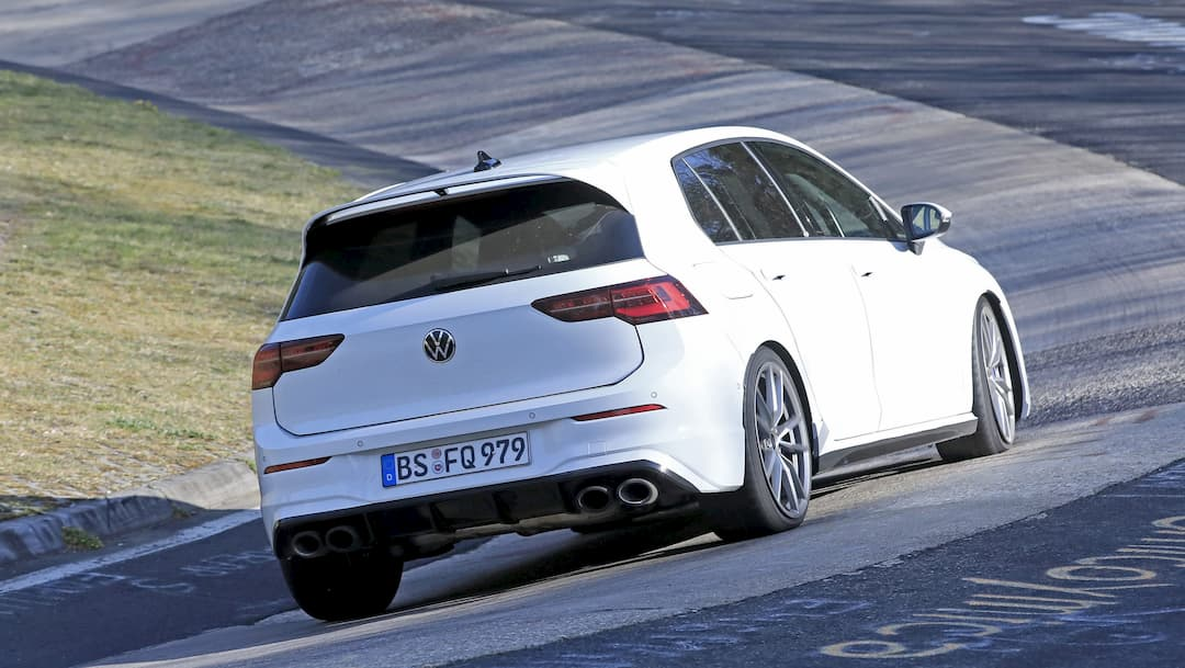 VW Golf R Mk8 spyshot at Nur rear