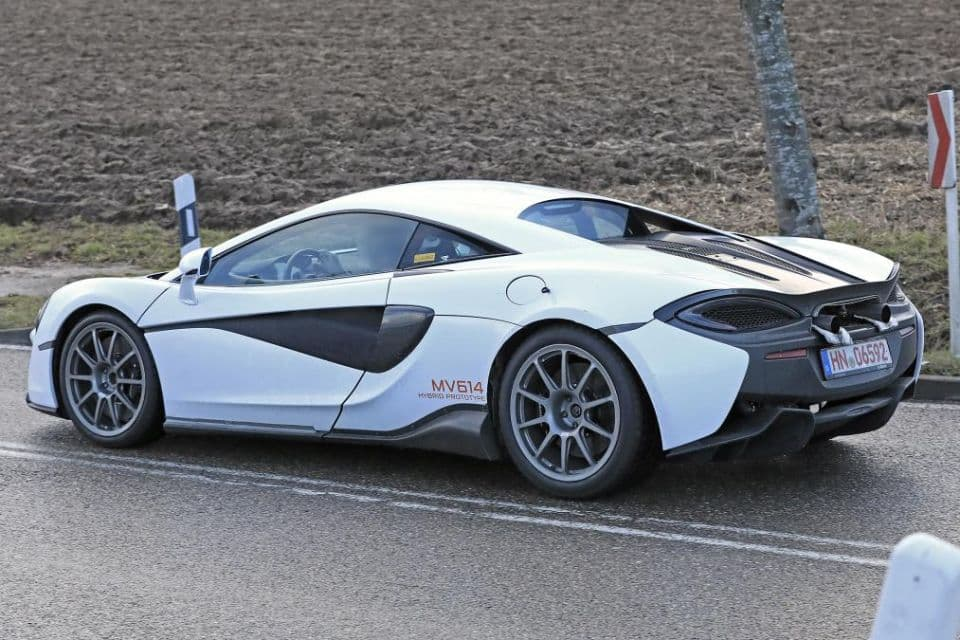 McLaren Hybrid Sport Series Test Mule side