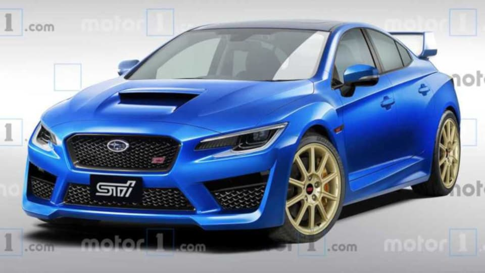 Subaru WRX STI 2nd Gen rendered by motor1