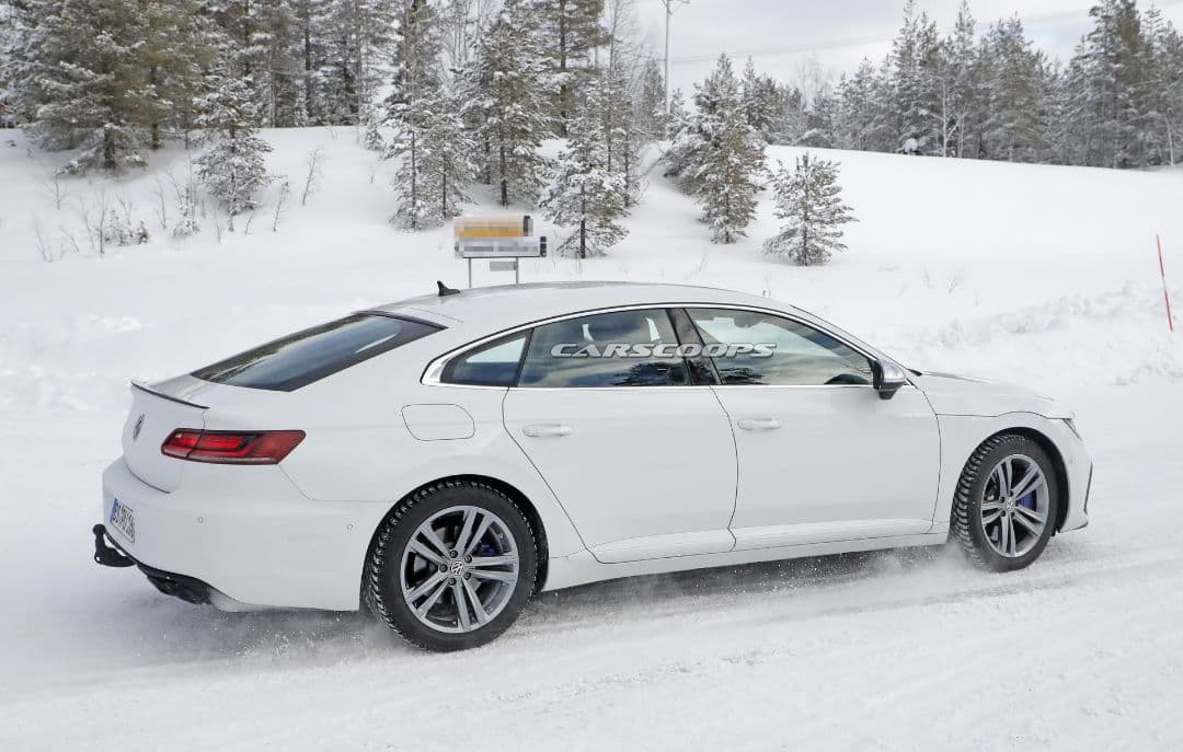 VW Arteon R spyshot rear three quarter