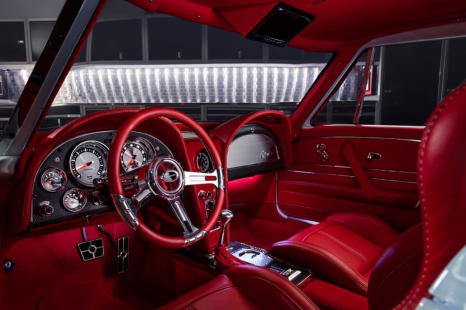 1963 C2 Corvette Restomod interior