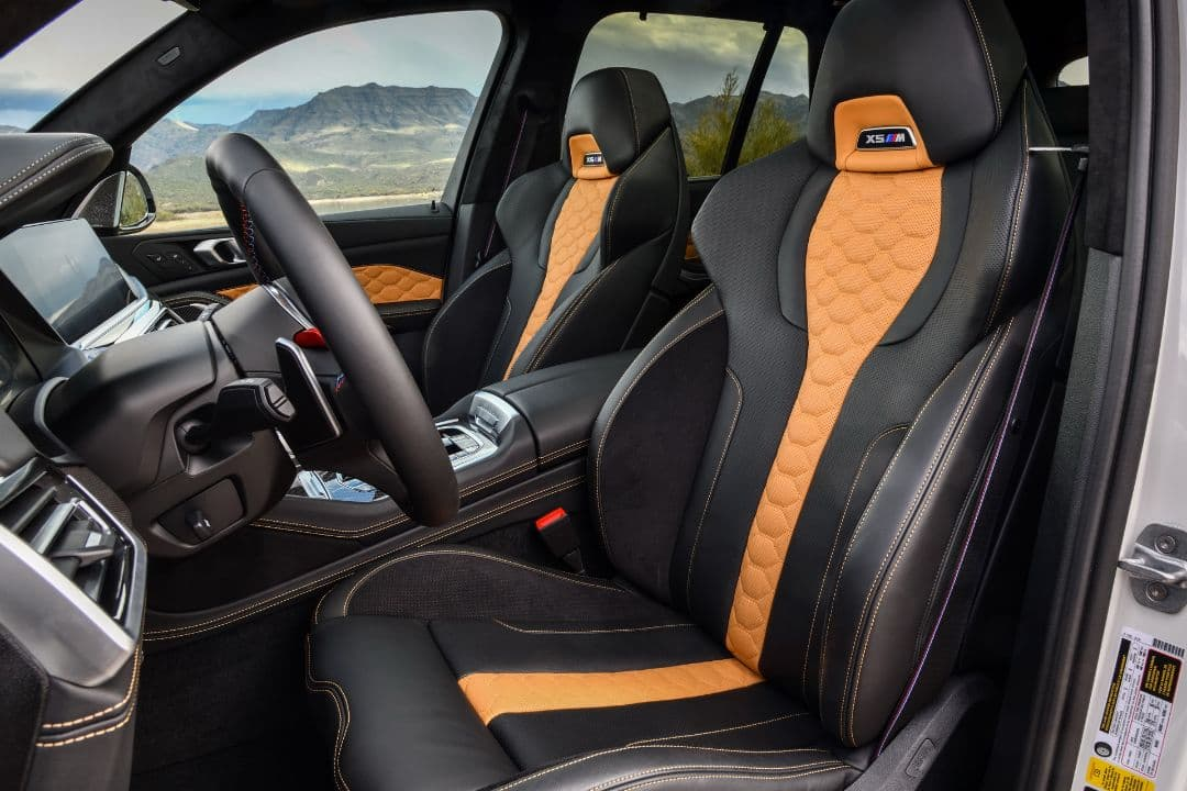 BMW X5 M front seat