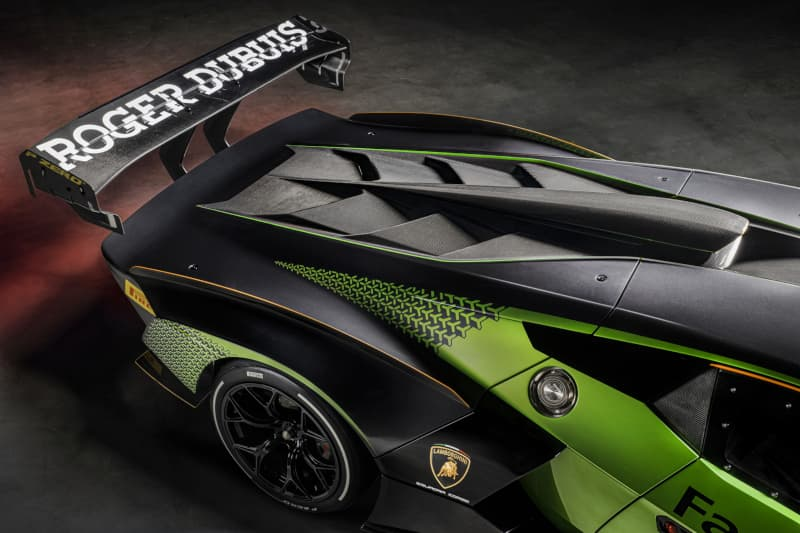 Lamborghini Essenza SCV12 engine hood