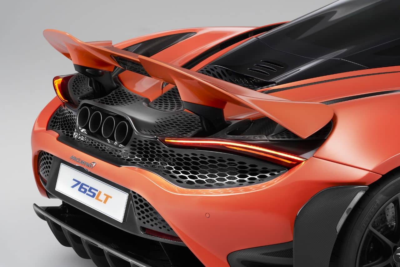 McLaren 765LT rear wing