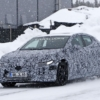 Mercedes-Benz EQE snow test spyshot