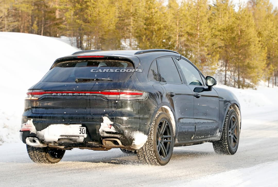 Porsche Macan EV test car spyshot rear