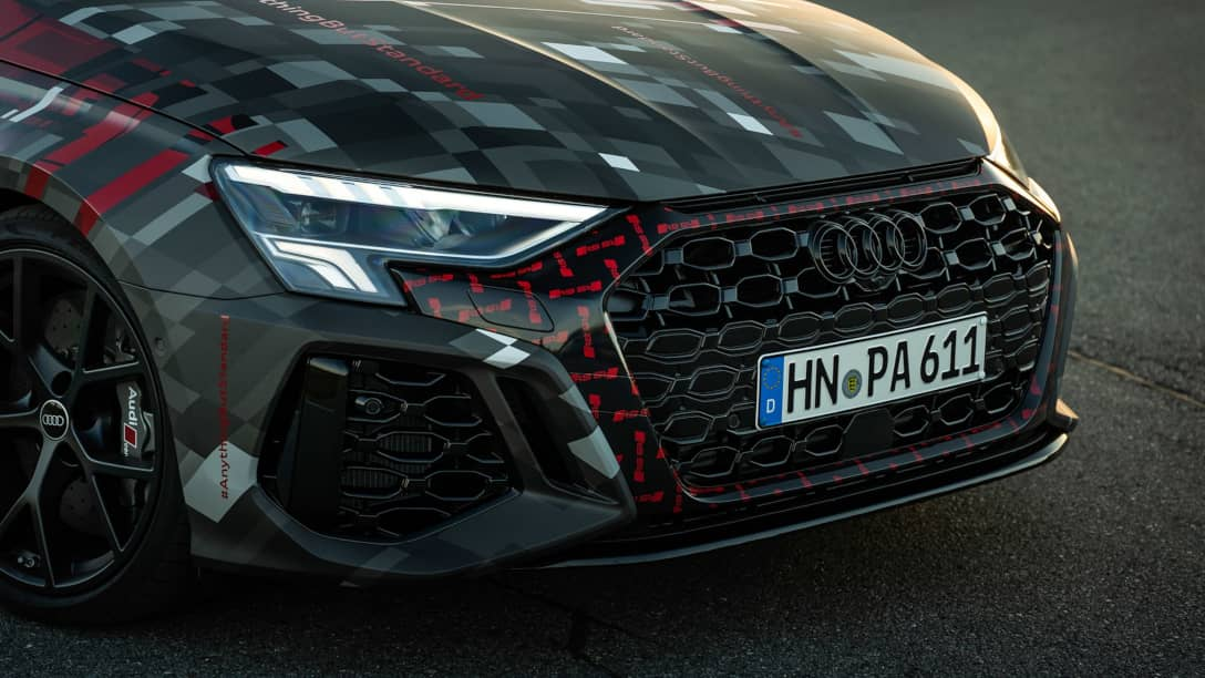 Audi RS3 8Y Prototype Grill