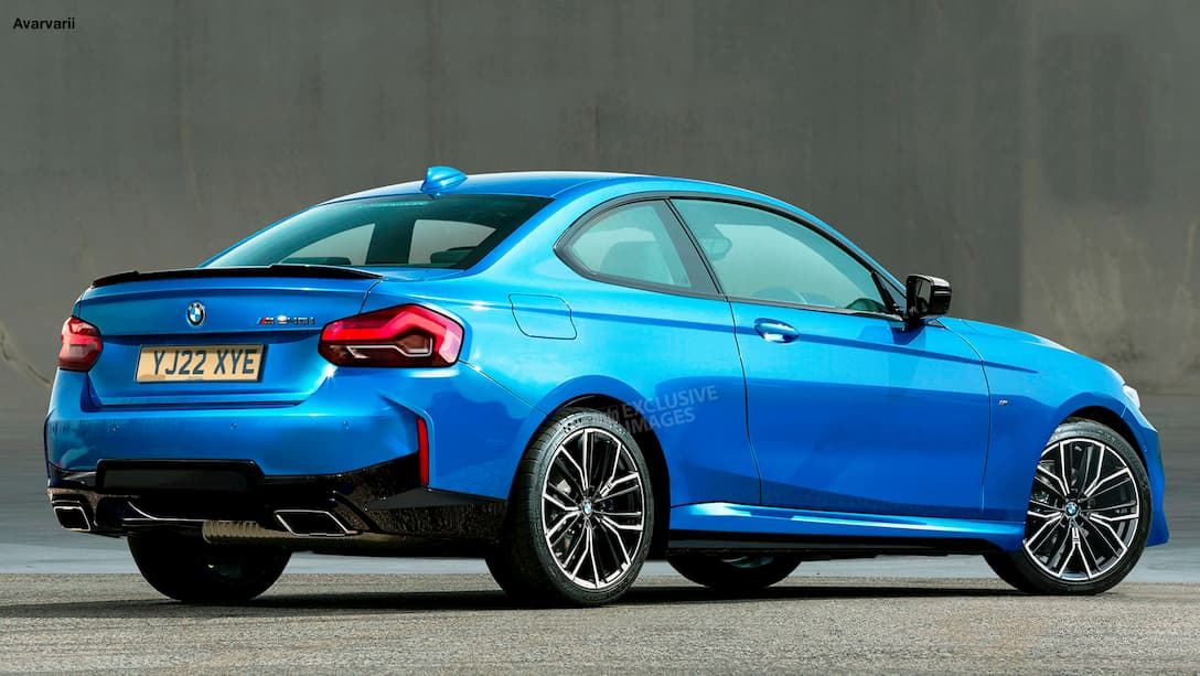 BMW 2 Series Coupe 2021 rendered by AutoExpress rear